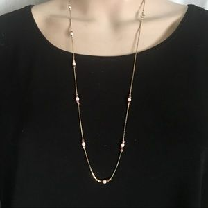 Vintage gold necklace with tiny beads